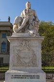 Sculpture of the German scientist Alexander von Humboldt in Berlin — Stock Photo
