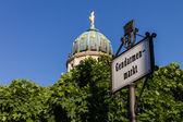 Gendarmenmarkt sign — ストック写真