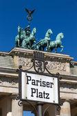 Pariser Platz sign — Stock Photo