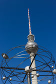 World clock (Weltzeituhr) and television tower (Fernsehturm) — Stock Photo