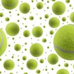 Tennis ball rain — Stock Photo #10753782