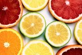 Colorful citrus slices — Stockfoto