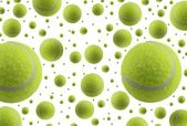 Tennis ball rain — Stock Photo