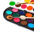 Paint brush and painters palette — Stock Photo