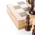 Hourglass, chess. — Stock Photo