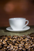An empty cup of coffee — Stock Photo
