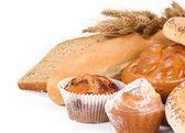 Ekmek üzerine beyaz izole — Stok fotoğraf