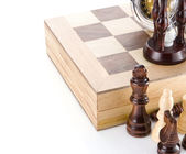 Hourglass, chess. — Stock Photo