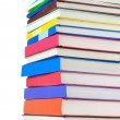 Pile of new books isolated on white — ストック写真