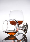 Cognac glass with brandy — Stock Photo