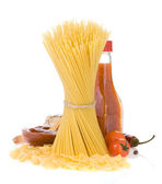 Raw pasta and food ingredient — Stock Photo