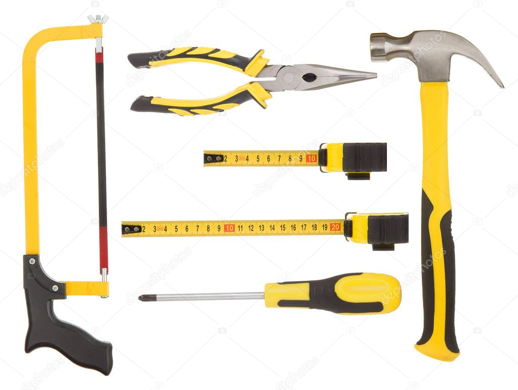 Set of tools isolated on white background  Stock Photo #10763308