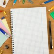 Back to school concept on wood — Stock Photo #10913619