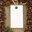 Coffee powder and beans as background - Stock Photo