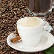 Cup of coffee and beans — Stock Photo #10915056