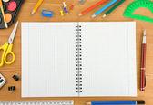 回学校在木材上的概念 — 图库照片