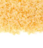 Raw pasta solated on white — Stock Photo