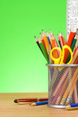 Pen and pens in holder — Stock Photo