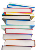 Pile of new books isolated on white — Stock Photo