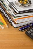 Accessori notebook e scuola — Foto Stock