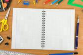 Acessórios notesbook e escola — Foto Stock