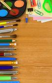 Skolan tillbehör och kopia utrymme — Stockfoto