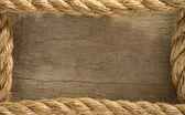 Ship rope and old wood Description: — Стоковое фото