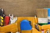 Verktyg i bälte väska — Stockfoto