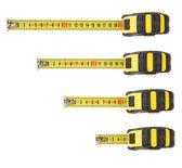 Conjunto de cinta métrica aislado en blanco — Foto de Stock