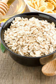 Cereals oat flake and healthy food — Stock fotografie