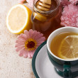 Tea and honey — Stock Photo