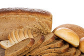 Bun and bread — Stock Photo