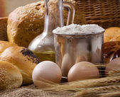 Bread and bakery products — Stock Photo