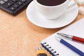 Café e almofada — Foto Stock