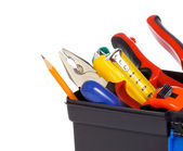 Tool box on white — Stock Photo