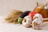 Uppsättning av naturlig mat — Stockfoto