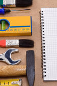 Pad and set of tools — Stock Photo