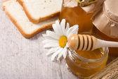 Honey and bread — Stock Photo