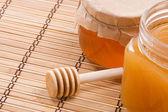 Jars of honey — Stock Photo