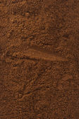 Coffee powder texture close up — Stock Photo