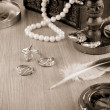 Old fashioned image of jewels — Stockfoto