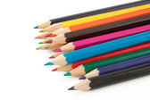 Colorful pencils isolated on white — Stockfoto
