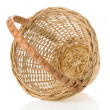 Wicker basket isolated on white - Foto de Stock