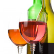 Wine in glass and bottle isolated on white — Stock Photo #11894030