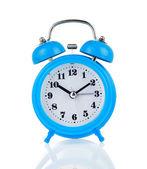 Alarm clock watch isolated on white — Stock Photo
