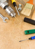 Herramientas e instrumentos de madera — Foto de Stock