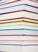 Pile of new colorful books — Stock Photo
