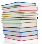 Pile books isolated on white — Stock Photo
