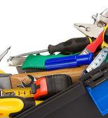Zestaw narzędzi i instrumentów na białym tle — Zdjęcie stockowe