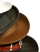 Set of hats isolated on white — Stock Photo